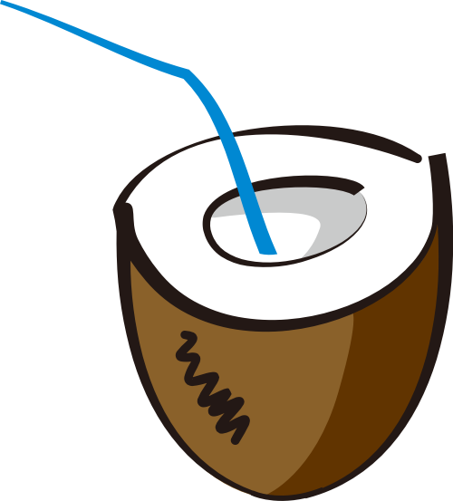 棕色椰子矢量logo元素