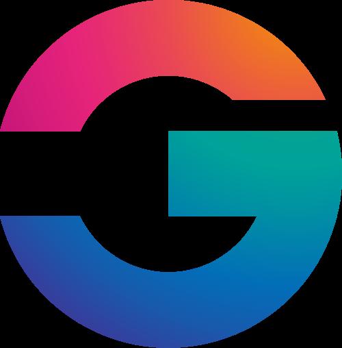 彩色字母G矢量logo