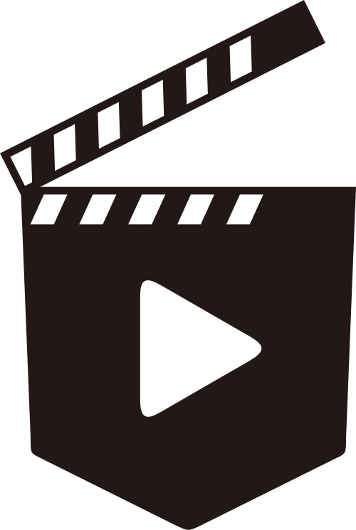 黑色视频矢量logo图标