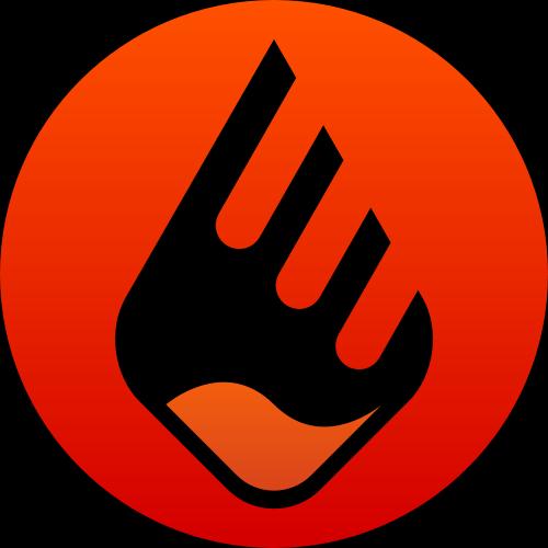 红色圆形火矢量logo