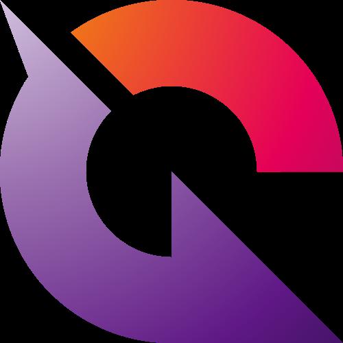 彩色字母G矢量logo元素