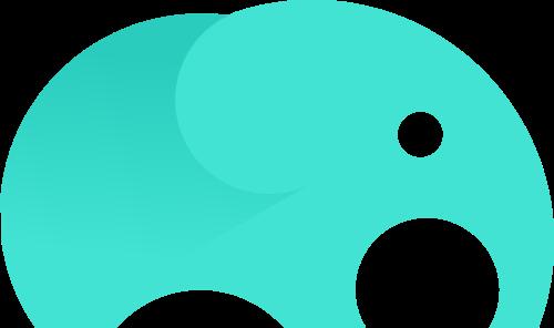 绿色小象矢量logo