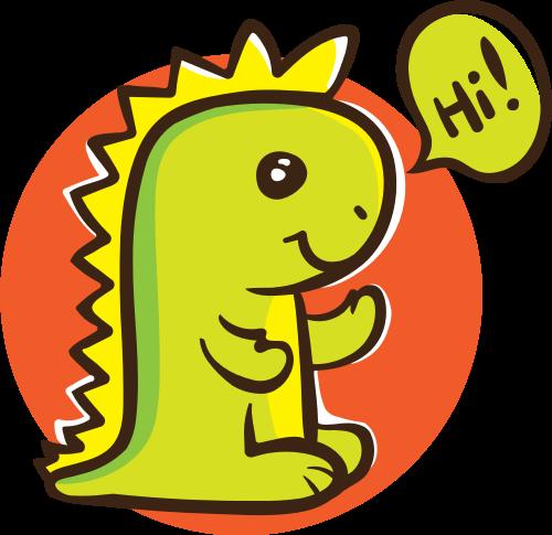 彩色恐龙矢量logo