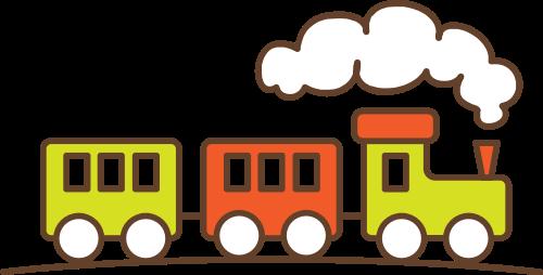 彩色火车矢量logo
