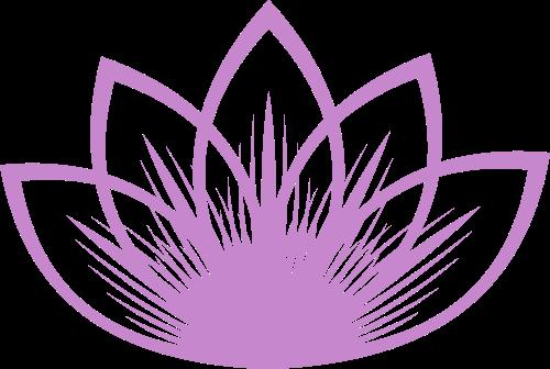紫色花朵矢量logo元素