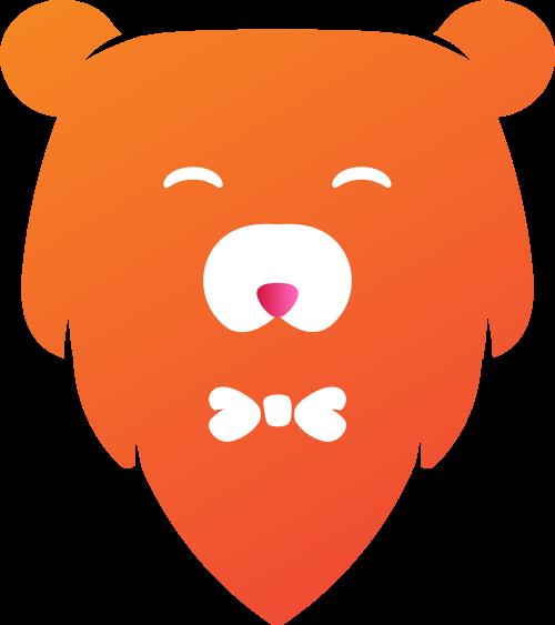 橙色熊矢量logo图标