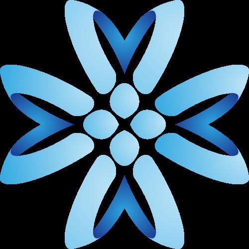 蓝色花朵矢量logo