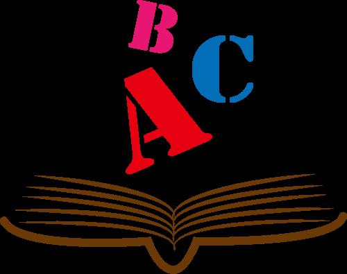 彩色书本英文字母矢量logo