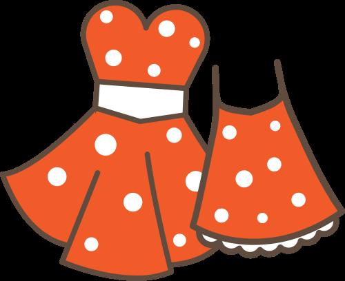 橙色童装服装矢量logo