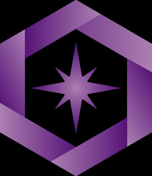 紫色六边形矢量logo