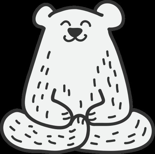 黑色熊矢量logo元素