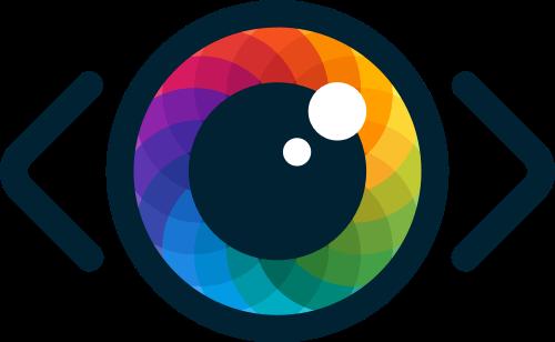 彩色镜头矢量logo