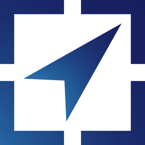 蓝色指标矢量logo