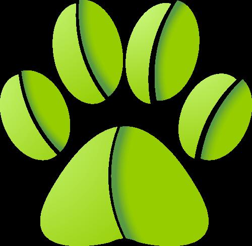 绿色爪子矢量logo