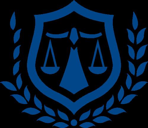 蓝色法律矢量logo元素