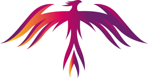 彩色凤凰矢量logo