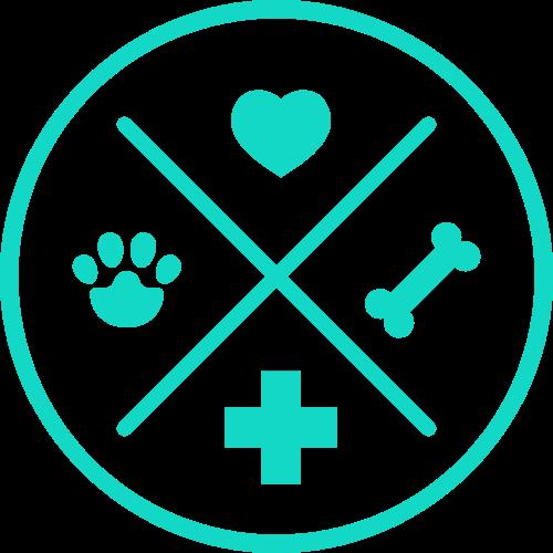 绿色圆形十字宠物矢量logo