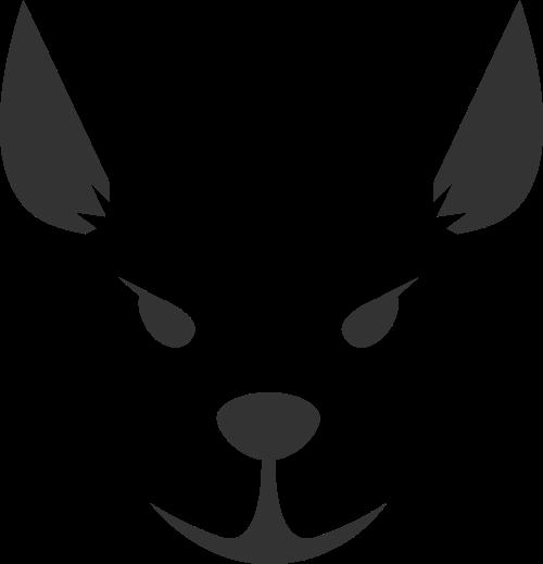 黑色狗矢量logo元素