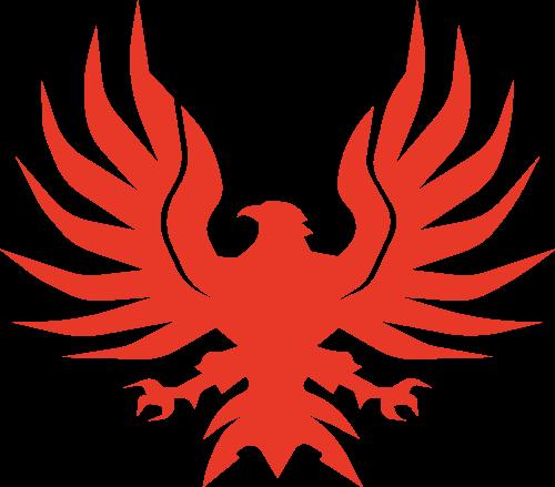 红色老鹰矢量logo