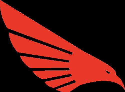 红色鹰矢量logo