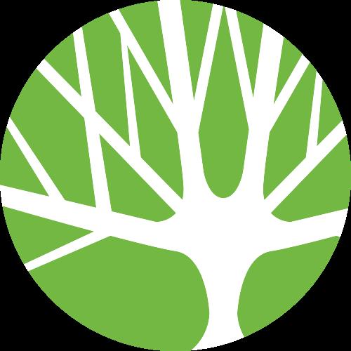 绿色圆形树矢量logo元素