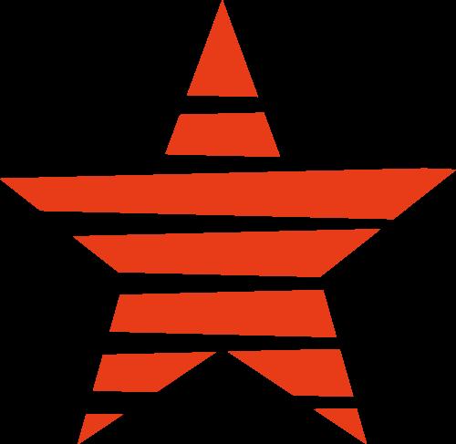 红色五角星矢量logo