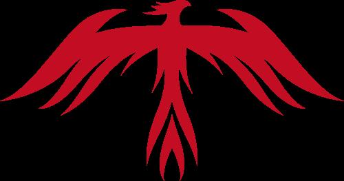 红色凤凰矢量logo