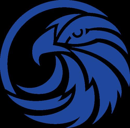 蓝色鹰矢量logo元素