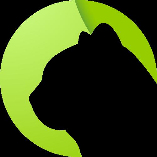 绿色猫头像矢量logo