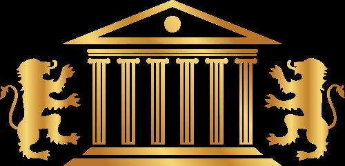 金色法律狮子建筑矢量logo