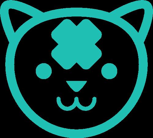 绿色猫矢量logo元素