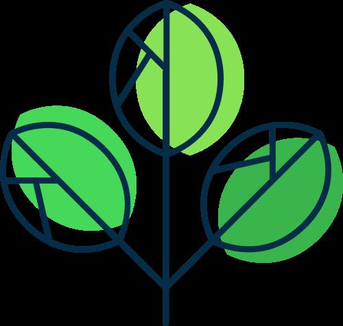 绿色叶子矢量logo元素