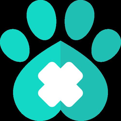 绿色爪子矢量logo图标