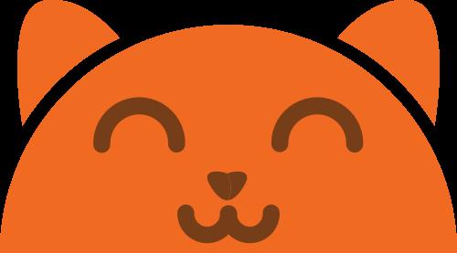 橙色猫矢量logo