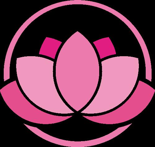 粉色花朵矢量logo