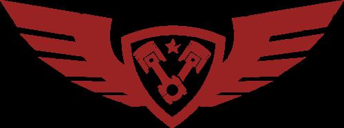 红色翅膀机械运动矢量logo