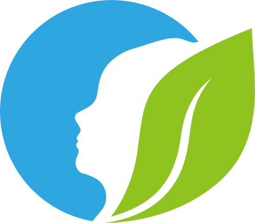 蓝色绿色叶子美容矢量logo