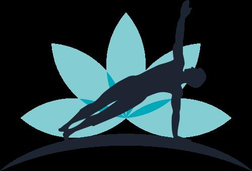 蓝色人物瑜伽矢量logo