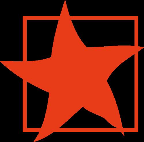 红色五角星矢量logo元素