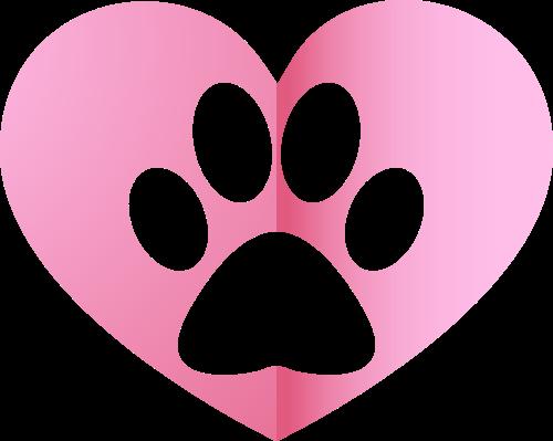 粉色宠物脚印矢量logo