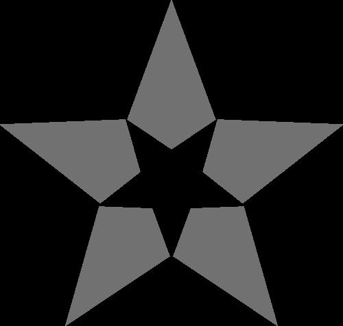 灰色五角星矢量logo