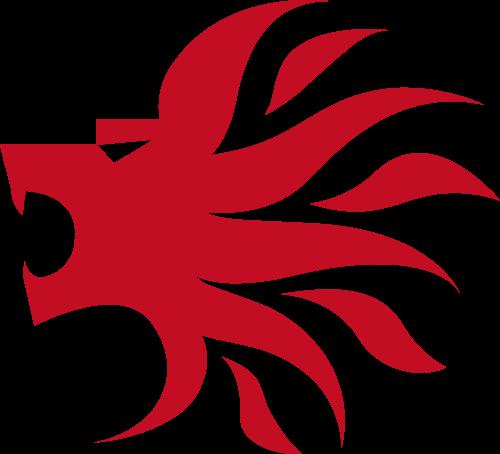 红色龙头矢量logo