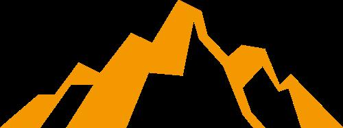 黄色山峰矢量logo