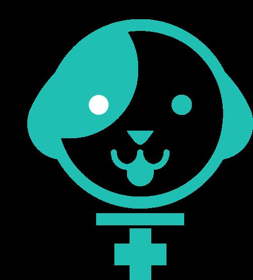 绿色小狗矢量logo图标