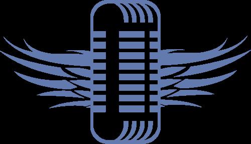蓝色麦克风矢量logo