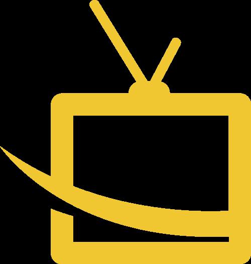 黄色电视矢量logo