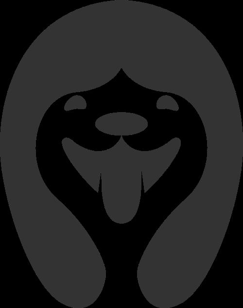 黑色狗矢量logo