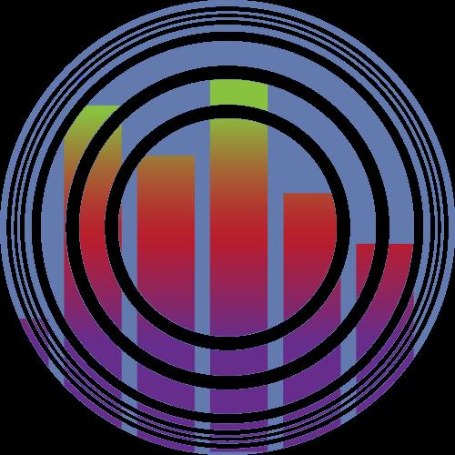 蓝色圆形音乐矢量logo元素