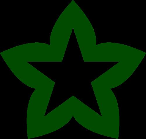 绿色星星矢量logo
