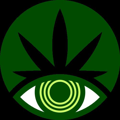 绿色叶子眼睛矢量logo